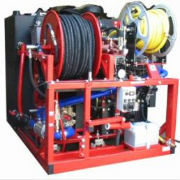 high pressure jetter used by Denver plumbing associates for clearing medium-sized clogs